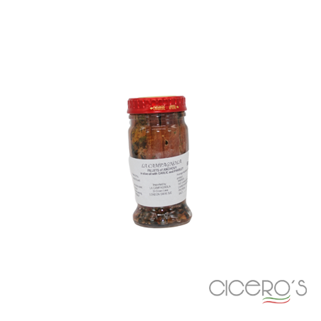 Picture of La Campagnola Anchovy Fillets In Oil, Garlic, & Parsley (90g)