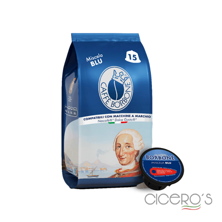 Picture of Borbone Dolce Gusto Blue Blend Capsules (15x7g)