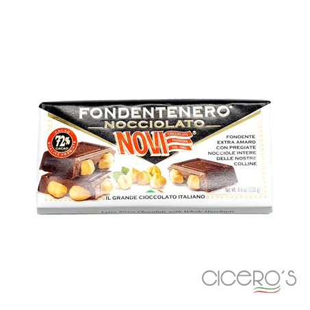 Picture of Novi Extra Bitter Chocolate Bar With Whole Hazelnuts (130g)